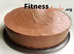 шоколадный диетический торт